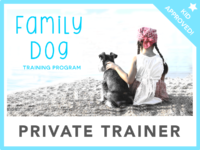 The family dog logo Private Trainer logo