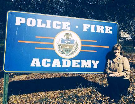 Penny Layne presents canine safety training to federal probation officers